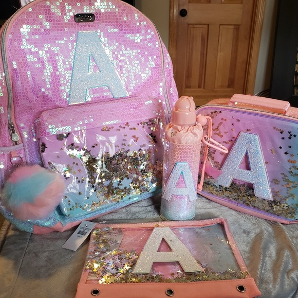 fa5fab570ee2 New Ombre Sequin Initial Backpack Bundle NWT